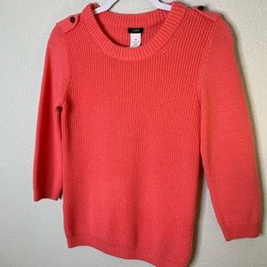J Crew Coral Wool Sweater, SIZE XS